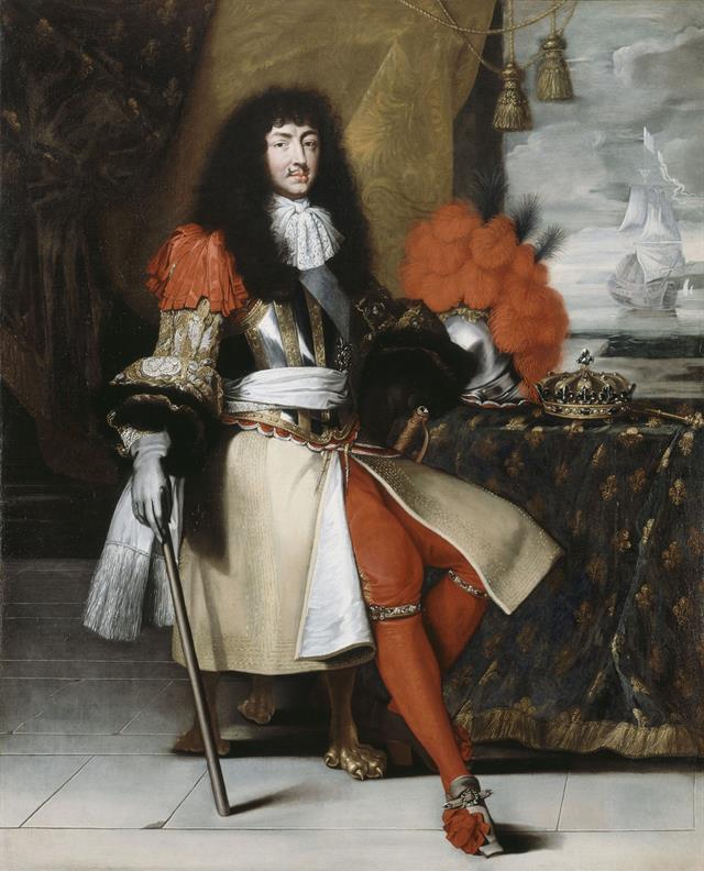 Il re Sole con baffetti alla royale