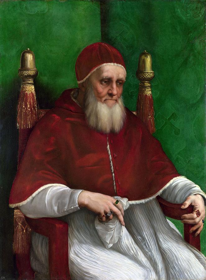 Raffaello, ritratto di Giulio II