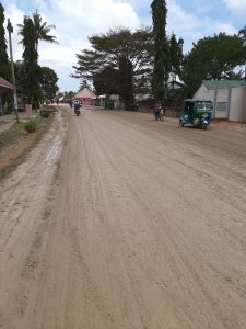 Se piove sono dolori... Lungo la strada principale di Kigamboni, il quartiere a sud di Dar es Salaam.