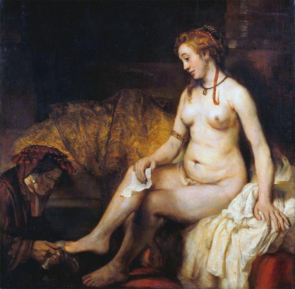 Betsabea con la lettera di Davide