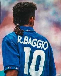 Con la maglia della Nazionale italiana numero dieci a USA '94