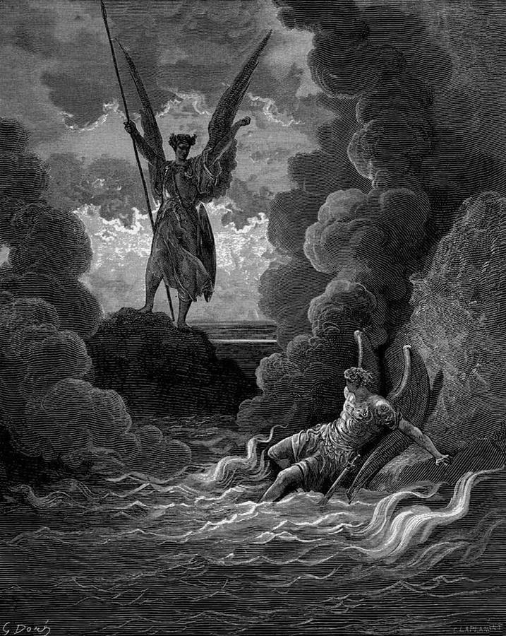 Gustave Dorè. La cacciata di Lucifero