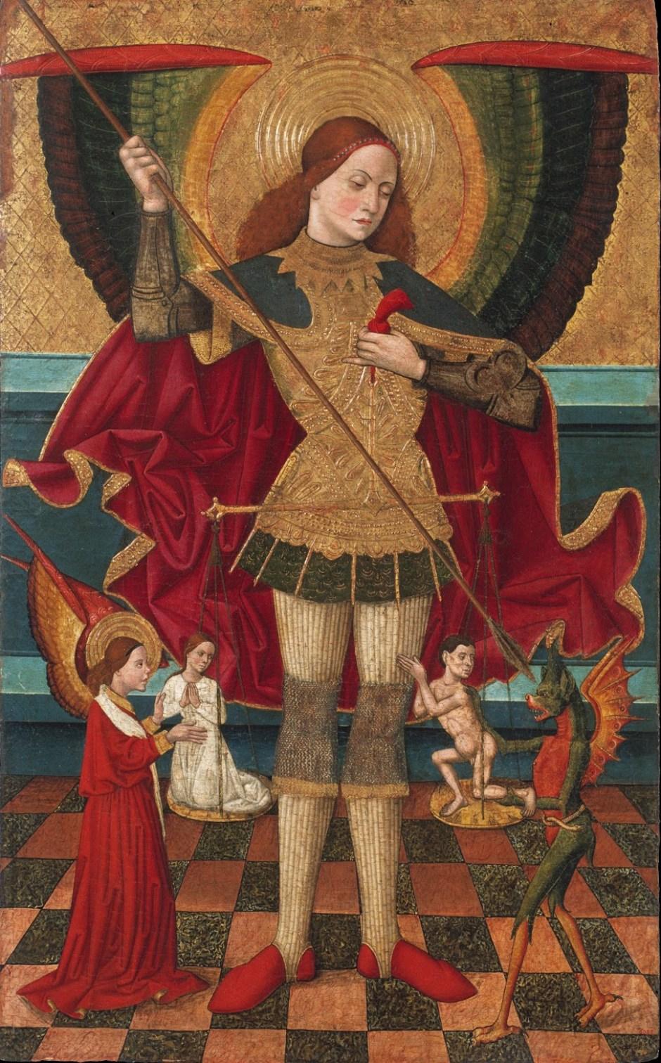 Juan de la Abadia, San Michele arcangelo pesa le anime