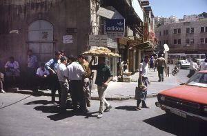 Una veduta di Amman, agosto 1990 (foto di Francoise De Mulder/Roger Viollet/Getty Images).