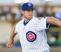 Alex Maestri con la maglia dei Cubs