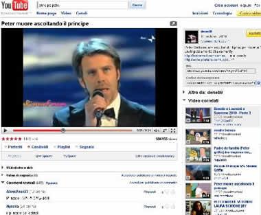 YouTube: Peter muore guardando il principe