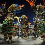 Revellers of Vila Isabel samba school pe