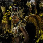 A reveller of Beija-Flor samba school da