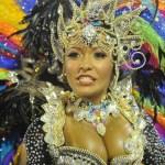 A reveller of Beija-Flor samba school pe