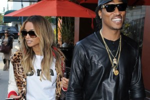 TI, Tiny, Ciara and Future exit Crustacean's restaurant in Beverly Hills