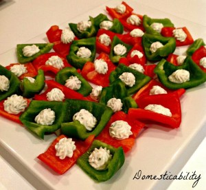 Green and Red Bell Pepper Appetizer