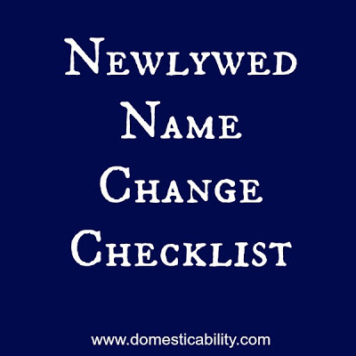 A complete list of all the places you need to change your name once you are married.