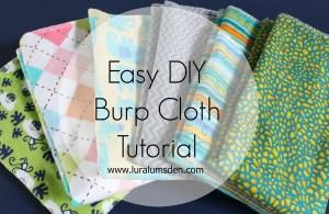 Easy DIY Burpcloth Bib Sewing Tutorial