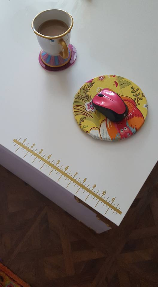 DIY Desk Ruler Made from Expression Vinyl Using Silhouette Cameo