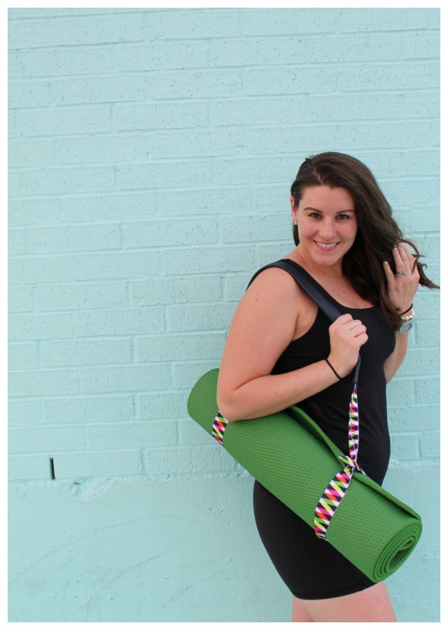 Make your own yoga strap. Way cheaper than Lululemon yoga mat strap