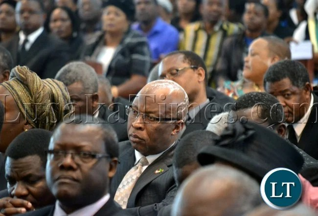 Opposition MMD leader Nevers Mumba was among other opposition leaders that attended the funeral of the late former Defence Minister Ben Mwila in Lusaka