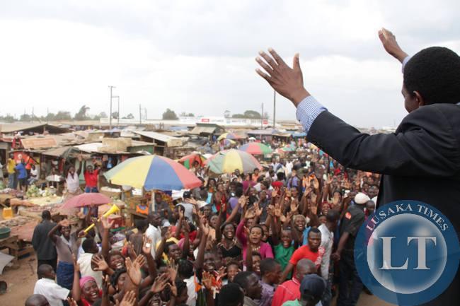 UPND president Hakainde Hichilema tours North-Western Province