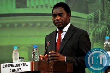 UPND's Hakainde Hichilema