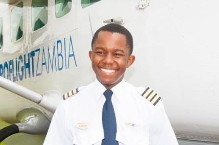 Meet Kalengo Kamwendo, Zambia's youngest pilot