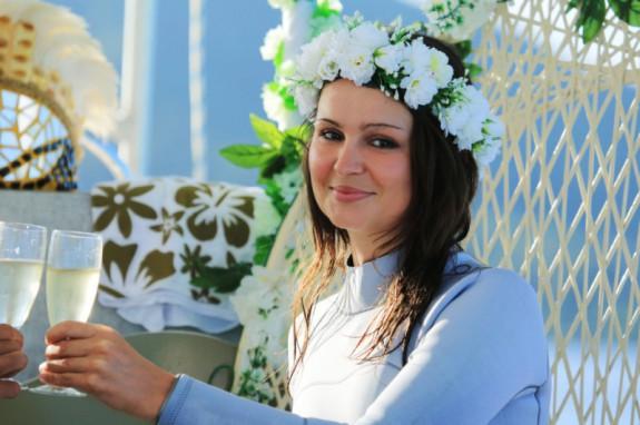 Wedding Ceremony Under the Turquoise Waters of the Lagoon of Bora Bora