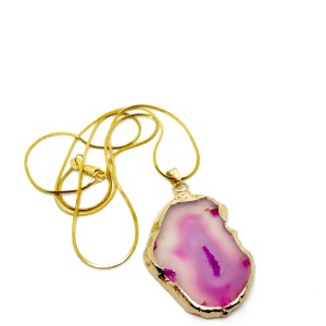Gold Agate necklace online uk