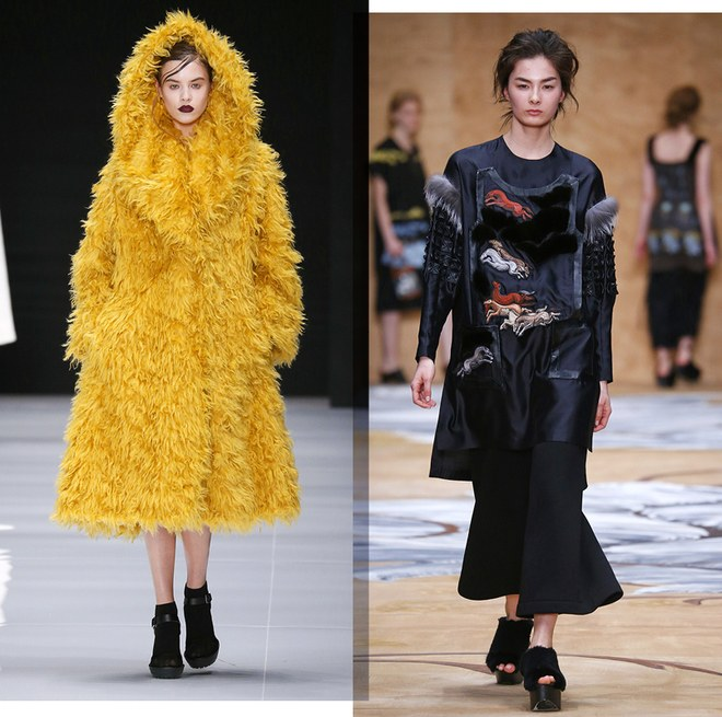 Viva vox et son manteau over-size jaune : attention Balenciaga Alena Akhmadulina : les inspiration équestre , tendance de la dernière fashion parisienne