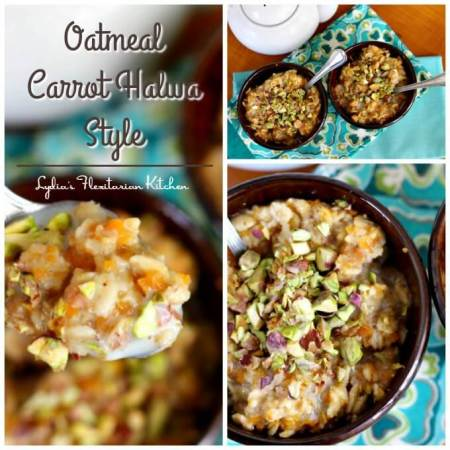 Spice Up Breakfast with Oatmeal Inspired by the Flavors of Carrot Halwa ~ #TheRecipeReDux ~ Lydia's Flexitarian Kitchen