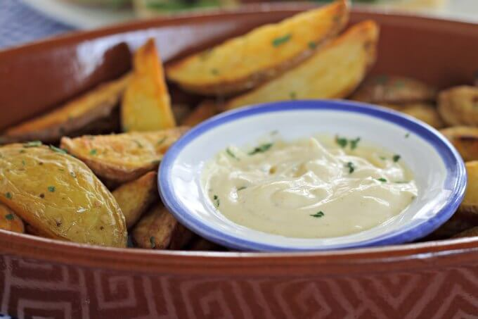 Oven Roasted Fries With Garlic Mayo