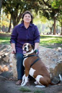 Lynda and her dog Bob