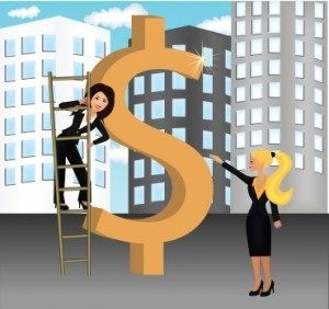 Kozzi-vector_image_of_a_business_woman_climbing_ladder_by_dollar_sign-370x350-300x282