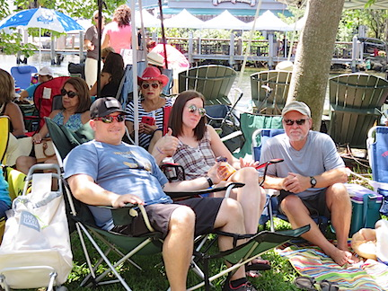 A shady location near the river with a good view is priceless at Jazz Fest.