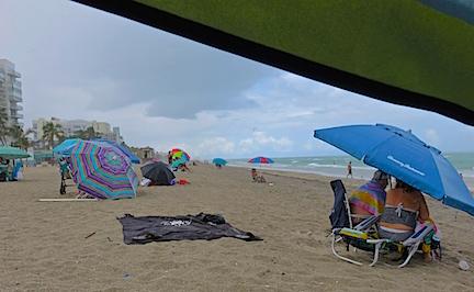 Rain on Hollywood Beach