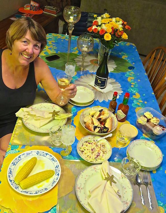 Karen's birthday spread.