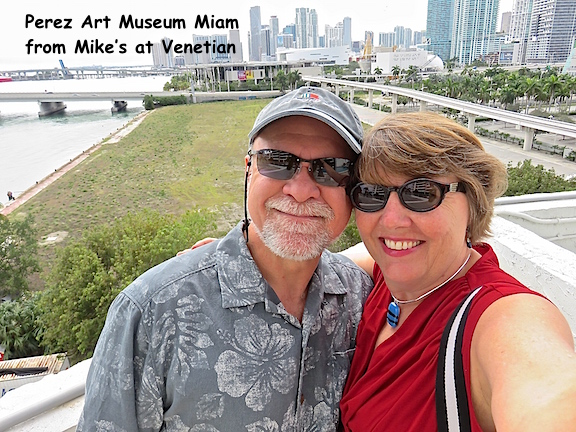 Perez Art Museum Miami in the background from Mike's on Venetia. Lunch first then art.