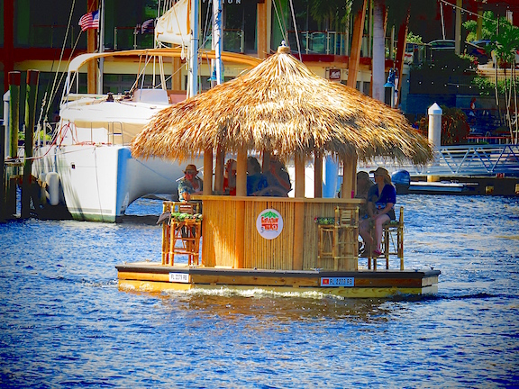 You may think you have a cool and unusual boat, but in Ft. Lauderdale there's always a guy pushing the envelope.