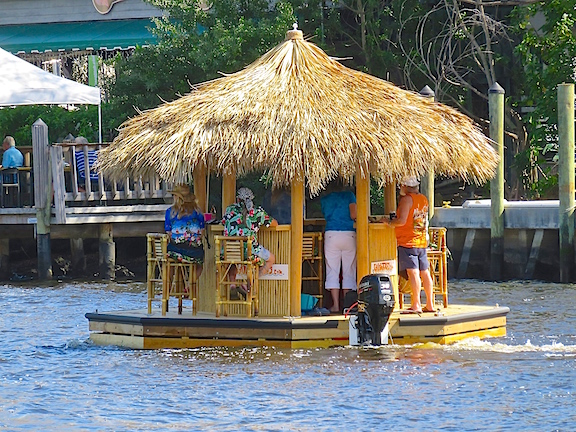 I don't know where they were going, but if they never get there, it probably won't matter. Party on, Tiki Boat!