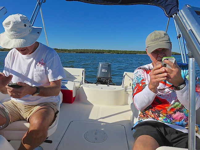 "10,000 island that are all surrounded by dense mangroves can get confusing. George and I both loaded new marine charting on our phones before leaving, but we still managed to have a few, ""Where are we?"" moments."
