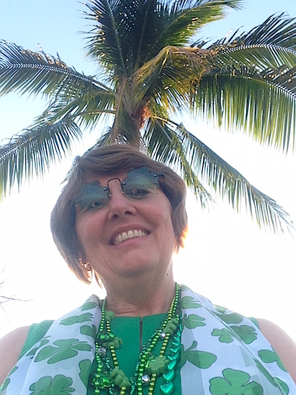 March celebrations in south Florida include palm trees and sunshine.