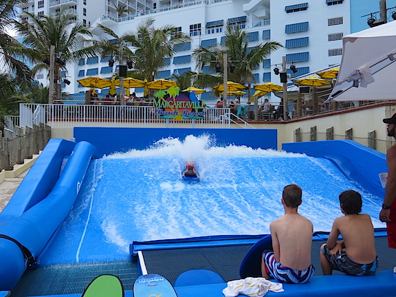 If you didn't want to face the wild waves in the ocean there's always the wave machine at Jimmy Buffett's Margaritaville.