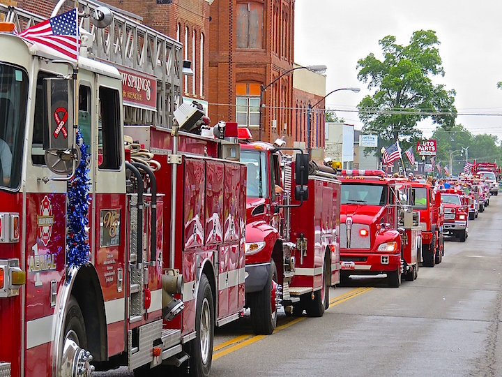 There were antique cars and a tractor, all ages on horseback, the high school marching band, clowns, pretty girls in convertibles and highly revered veterans in full military dress. When the heavy equipment from local fire departments closed out the pageant the air was saturated with the love of country. God bless the USA!