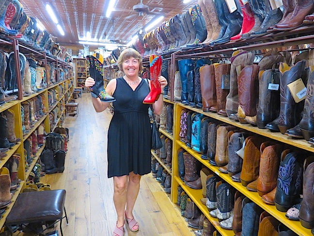 Women are all about shoes, but Texas women love their boots. Allen's Boots was a treasure trove of cowboy footwear.
