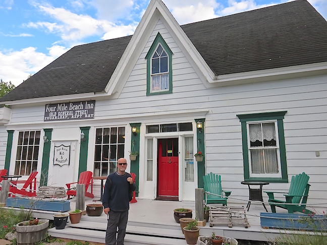 The Four Mile Beach Inn on the northeastern tip of Cape Breton Island dates back to the 1880s.