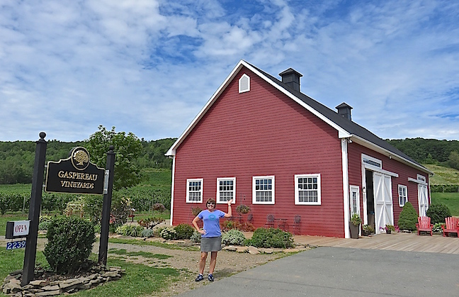 Gaspereau Vineyards invites you to sample their vintages in a refurbished barn.
