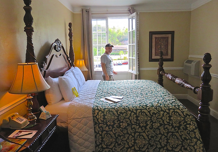 Jeff enjoying the view from Room 214 at the Lake Lure Inn.
