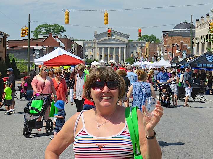 Main Street in Lincolnton was closed to traffic. The Lincolnton County Court House loomed large at the end of the drag.