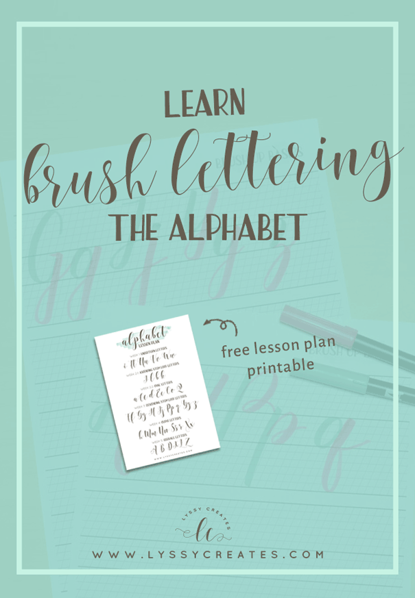 Brush Pen Calligraphy Alphabet