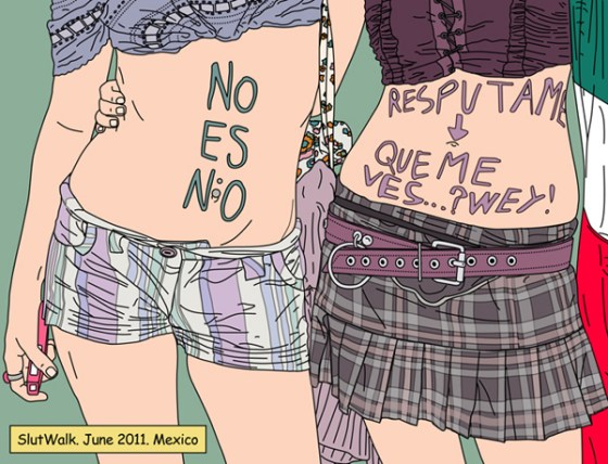 Indignadas_slutwalk-mexico