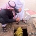 معلم ينقذ طالباً بعد سقوطه في بركة صرف صحي بعرعر