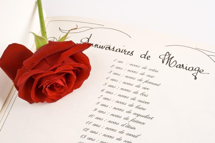 Rose et anniversaire de mariage