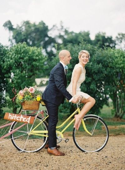 wedding bike
